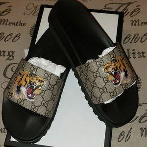 Gucci Shoes | Gucci Lion Slides | Poshmark